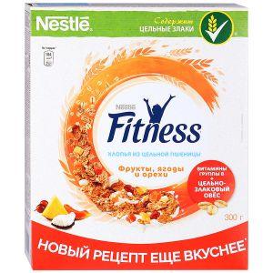 Xlopya Nestle Fitness tam buğdadan  meyvələr, giləmeyvələr və qozlar ilə 300 qr