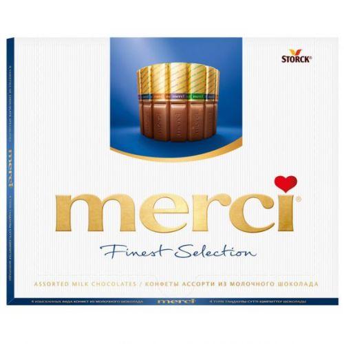 Şokolad dəsti Merci Assorti 4 cür şokolad 250 gr