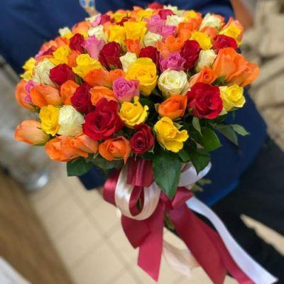 Роза кенийская цветной микс