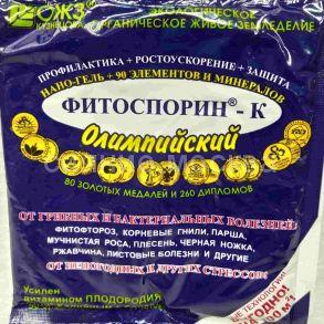 Фитоспорин-К Олимпийский, нано-гель + 90 элементов и минералов, 200 г