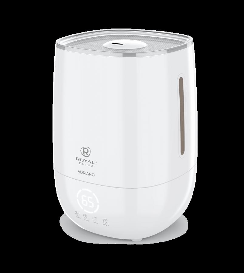 Увлажнитель воздуха ультразвуковой Royal Clima ADRIANO Digital RUH-AD300/4.8E-WT, 4,8 л, 20 м2, ароматизация