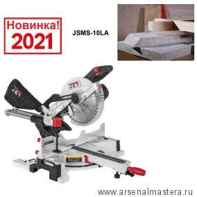 Торцовочная - усовочная пила JET JSMS-10LA  1,5 кВт 230 В Диск 254 / 30 мм 10000294M Новинка 2021 года !