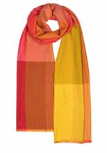 Роскошный тонкорунный палантин (широкий шарф)  Элли Эссиль Фушия, ALLIE ESSIL FUSHIA LUXURY SCARF, смесь кашемира , шерсти мериноса и шелка, плотность 3