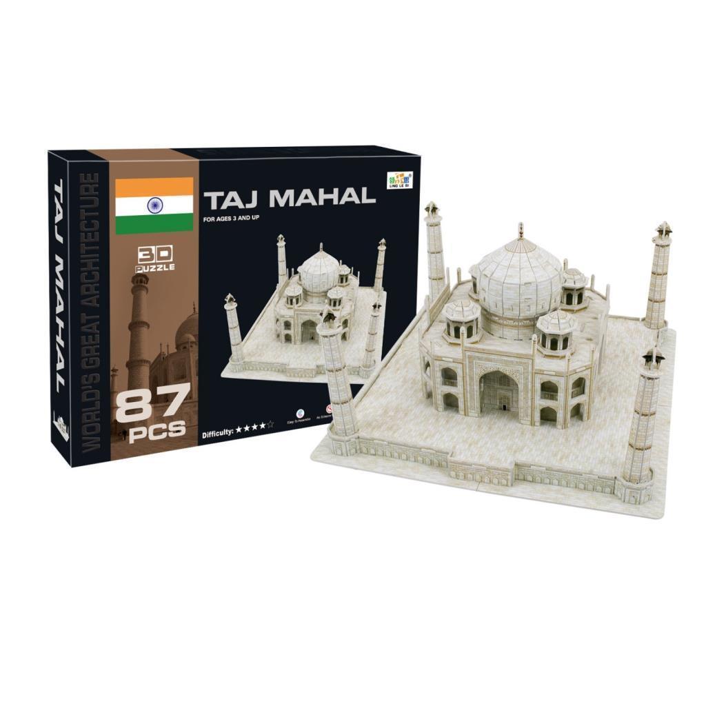Объемный пазл конструктор 3D TAJ MAHAL 87 деталей