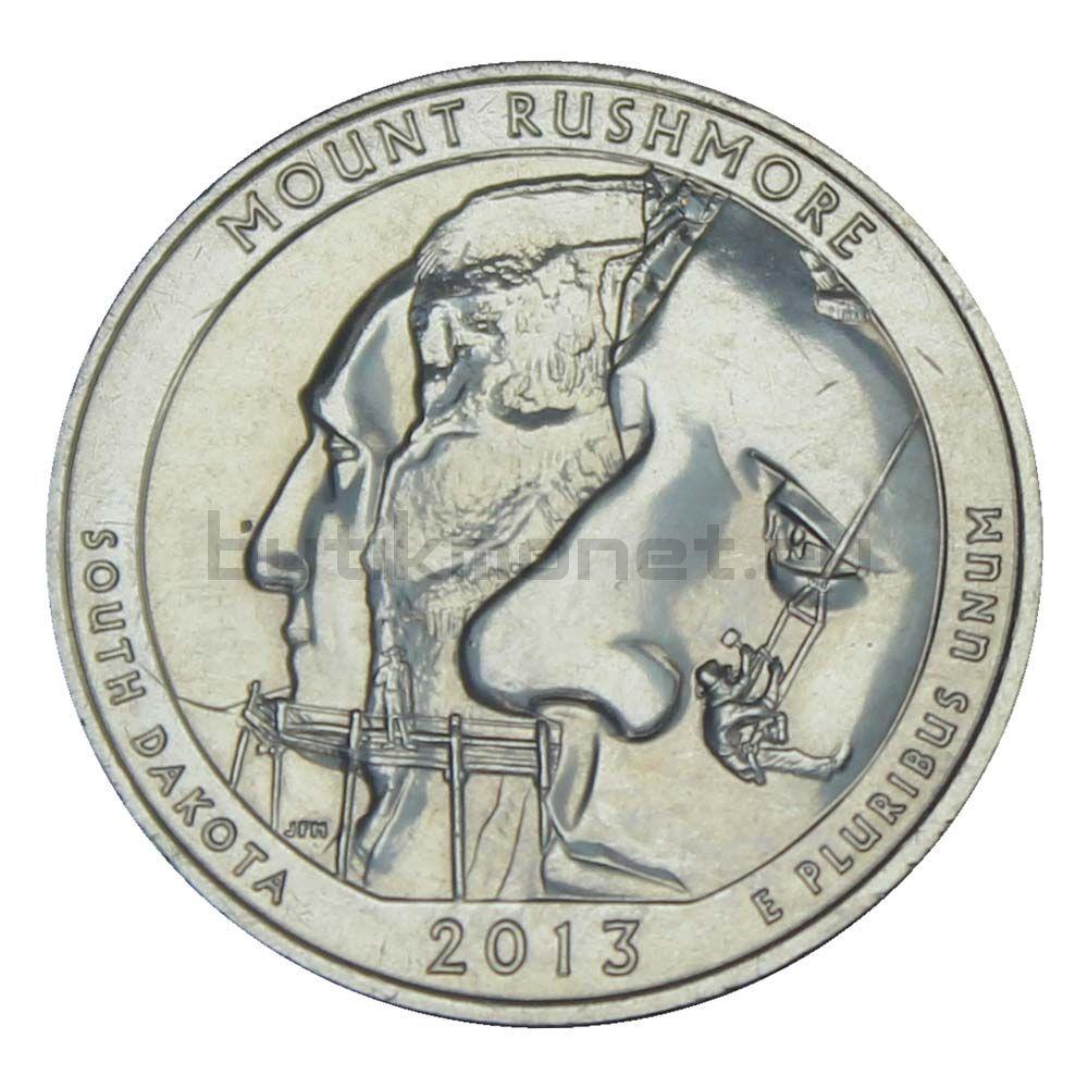 25 центов 2013 США Национальный мемориал Маунт-Рашмор S