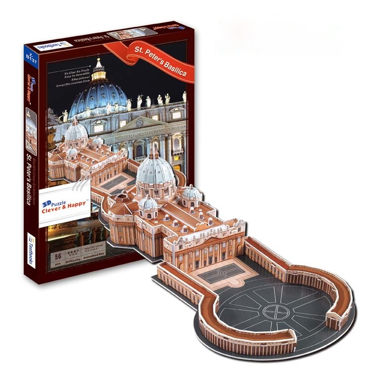 ZB137 Конструктор макет 3D пазл Собор Святого Петра 56 деталей