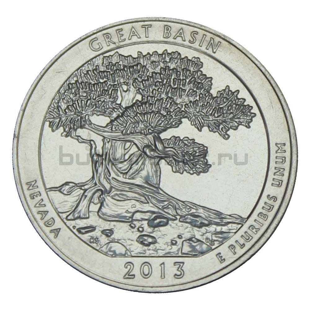 25 центов 2013 США Национальный парк Грейт-Бейсин S