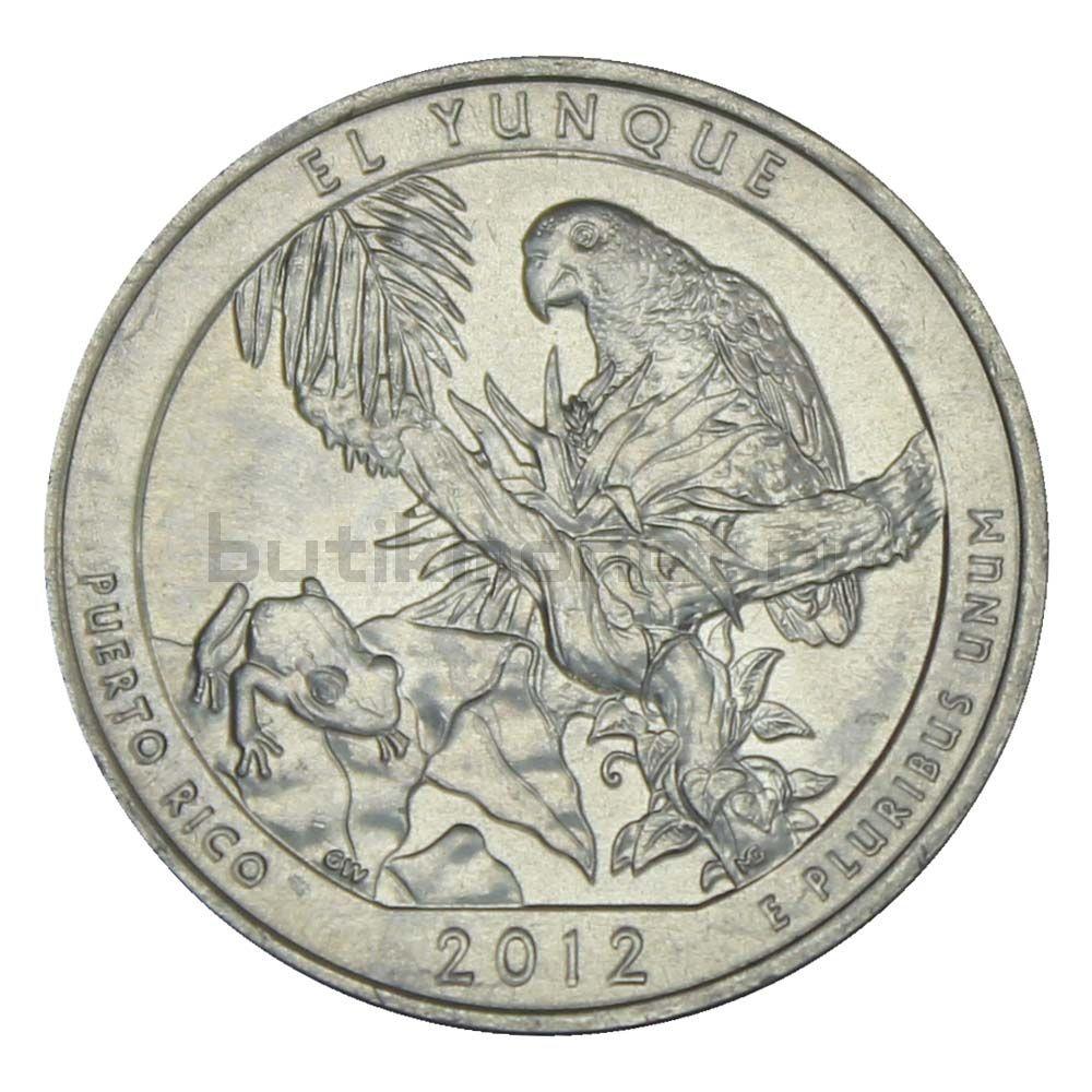 25 центов 2012 США Национальный лес Эль-Юнке S