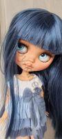 кукла блайз с синими волосами