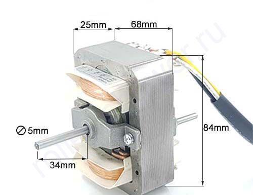 Мотор для вытяжки универсальный YJF6825 3 скорости, квадратный.