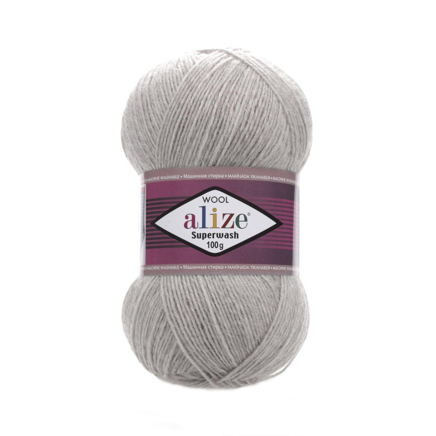 Superwash  21 серый меланж
