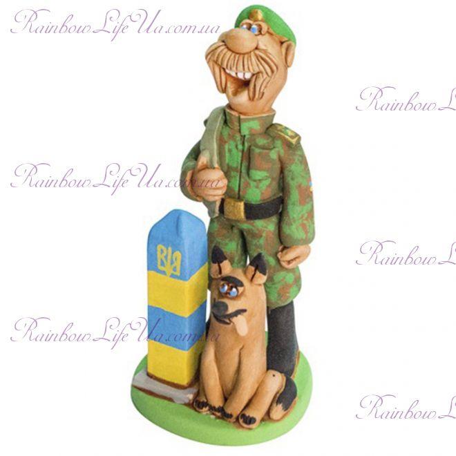 """Статуэтка мужчина """"Пограничник с собакой"""""""