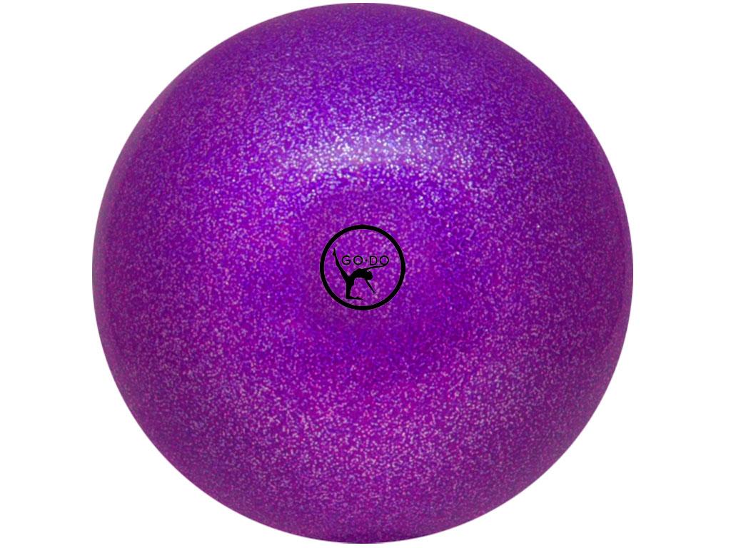 Мяч для художественной гимнастики GO DO. Диаметр 19 см. Цвет: фиолетовый с глиттером. Артикул 00632