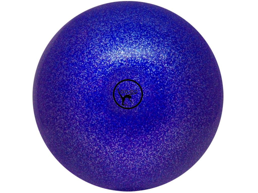 Мяч для художественной гимнастики GO DO. Диаметр 19 см. Цвет: синий с глиттером. Артикул 00631