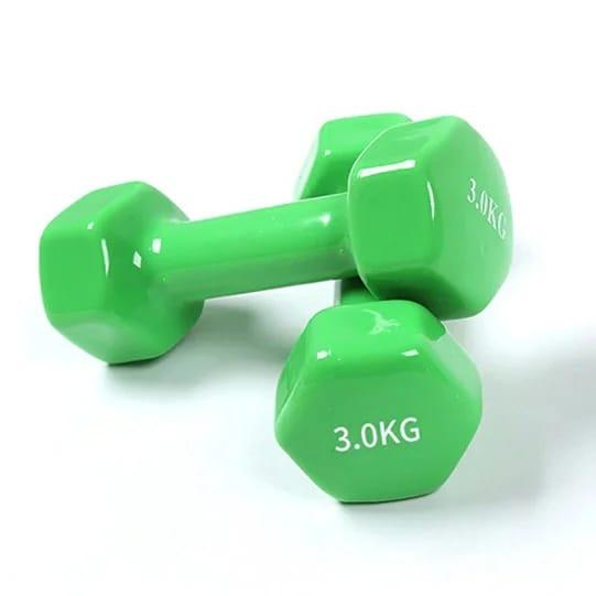 Гантели резиновые 3 кг