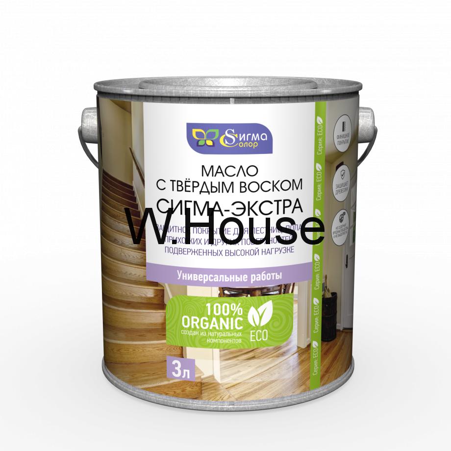 """Масло для дерева с твердым воском для лестниц и пола """"Сигма Экстра"""", 3 л"""