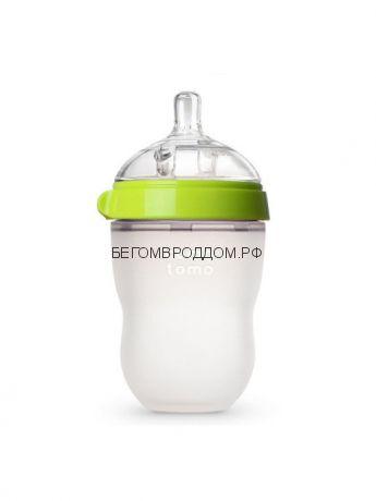 Comotomo бутылочка антиколиковая 250 мл зелёная (3-6)