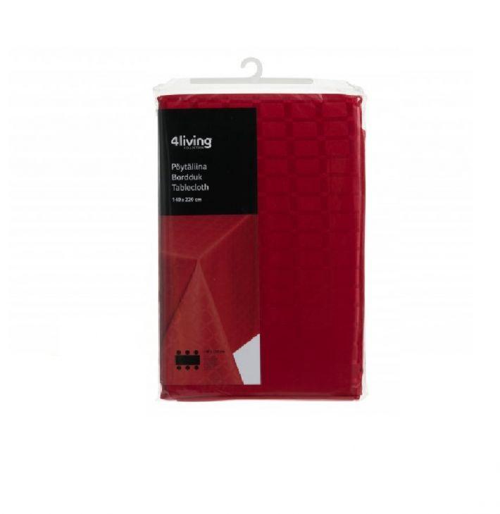 Скатерть Lux 4Living 140x220 см красная