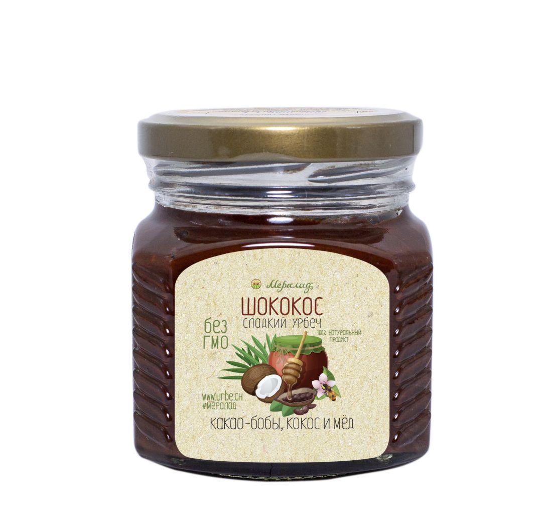 МЕРАЛАД Шококос - урб.кокос, урб.какао, греч.мед - 230 гр