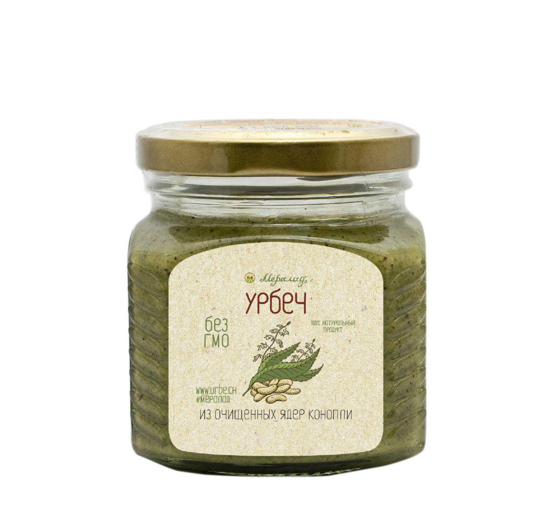 МЕРАЛАД Урбеч из очищенных ядер семян конопли - 230 гр