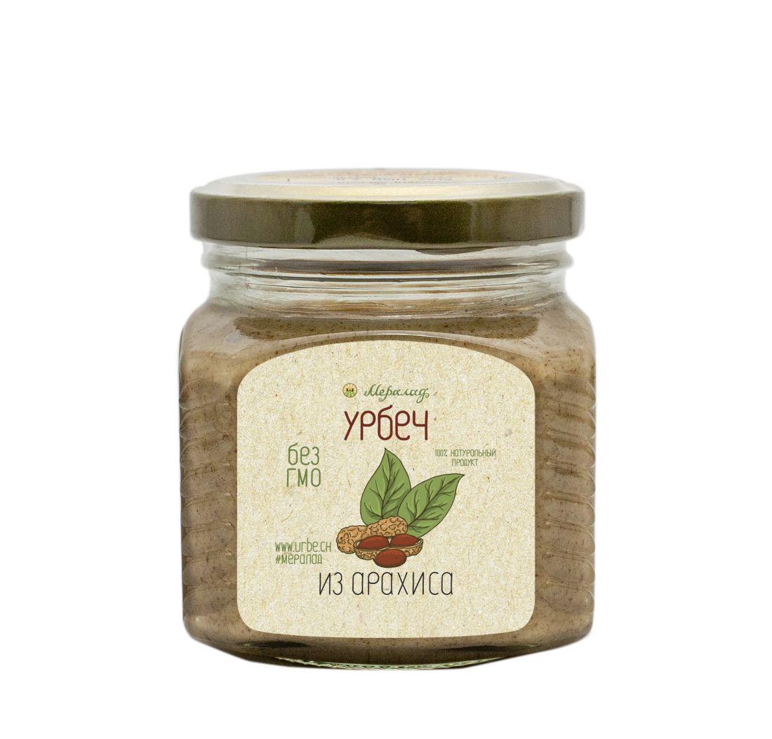 МЕРАЛАД Урбеч из арахиса  с розовой солью- 230 гр
