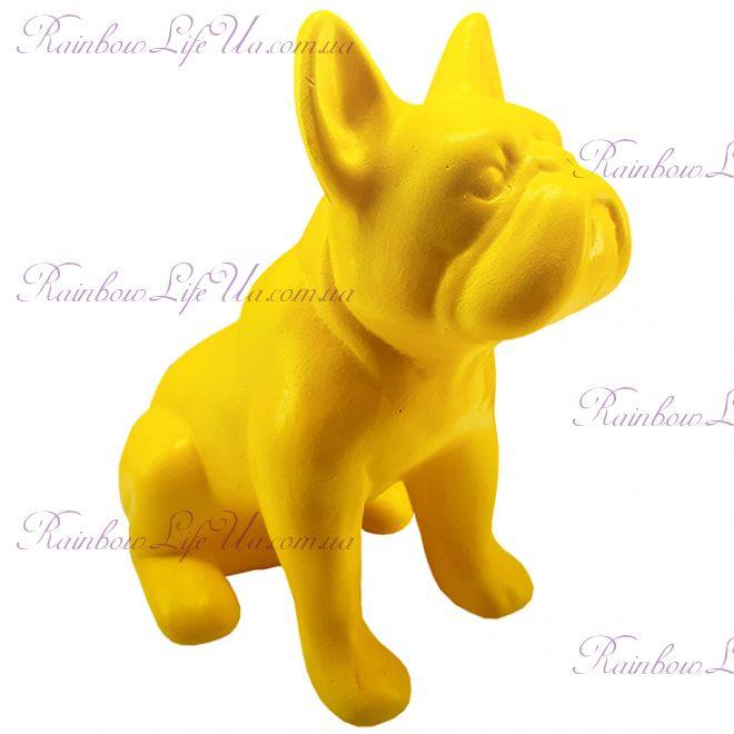 """Фигурка собака """"Французский бульдог сидячий"""" желтый"""