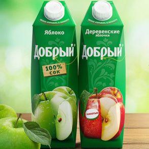 Сок яблочный 1л