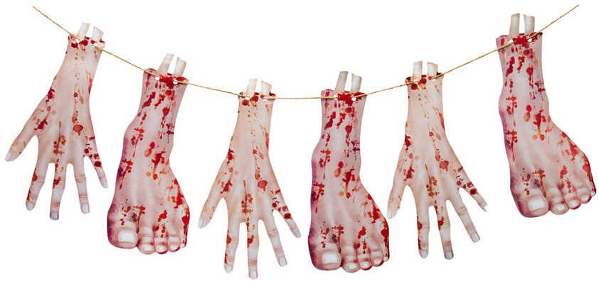 Гирлянда Кровавые руки и ноги