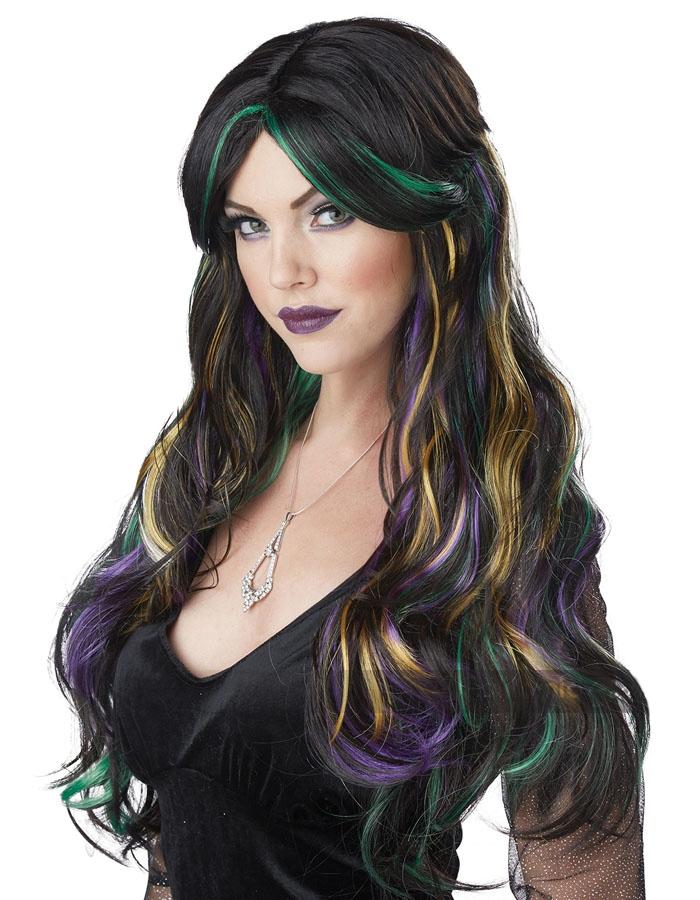 Разноцветный парик ведьмы