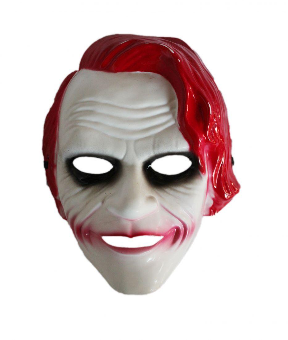 Детская маска Джокера с красными волосами