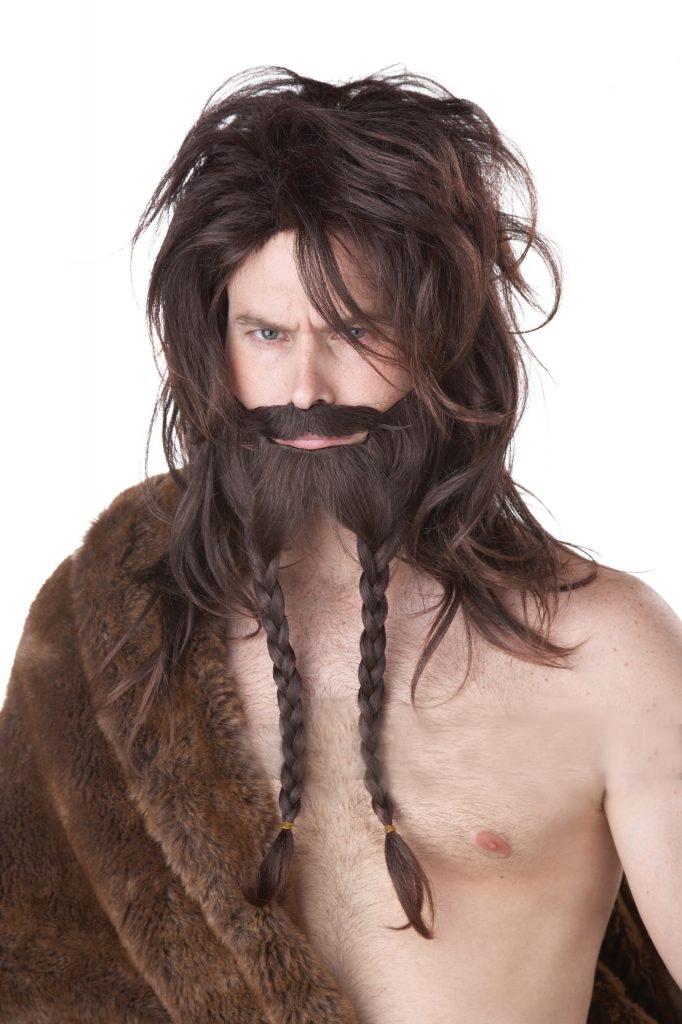 Парик борода и усы викинга