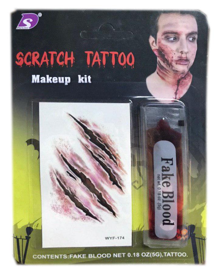 Татуировка раны и кровь