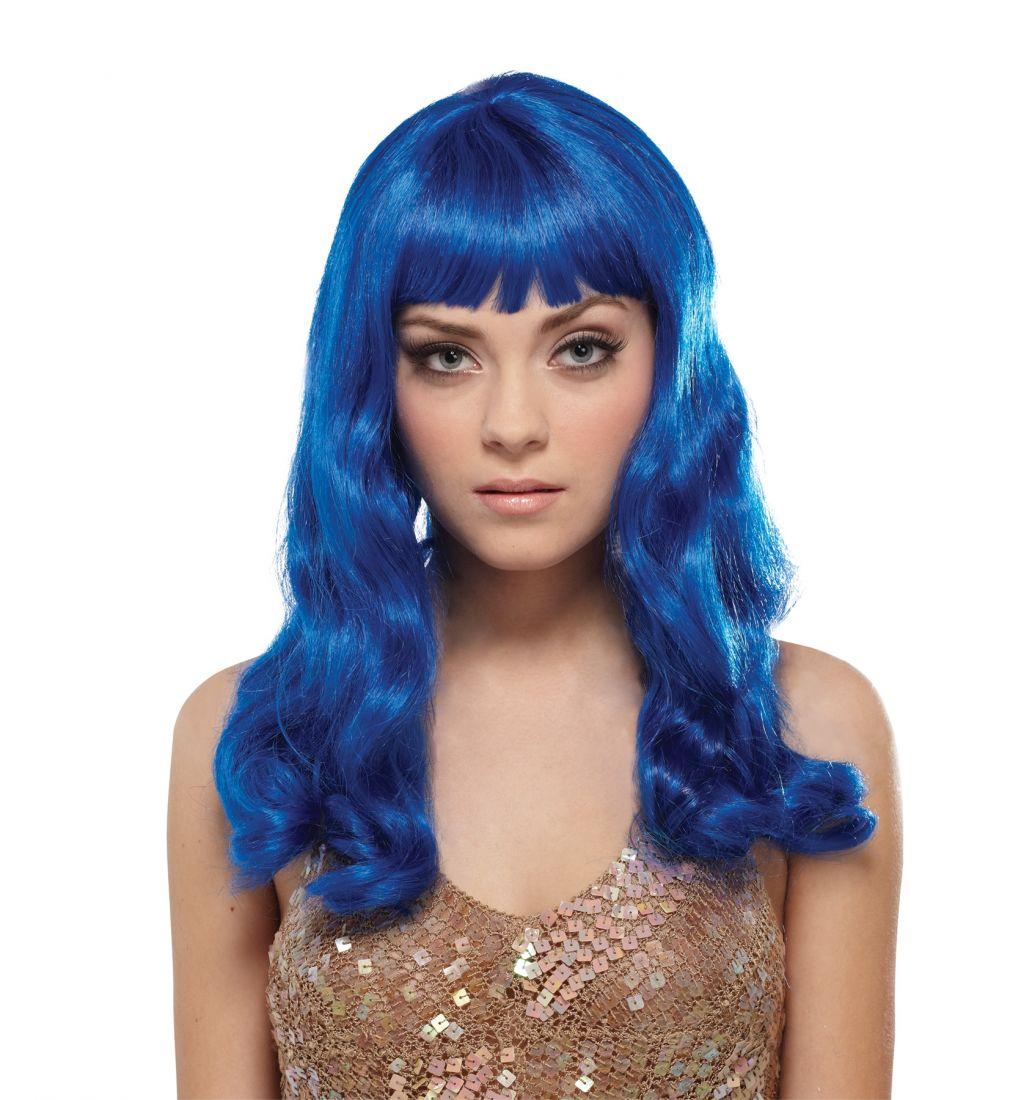 Синий парик