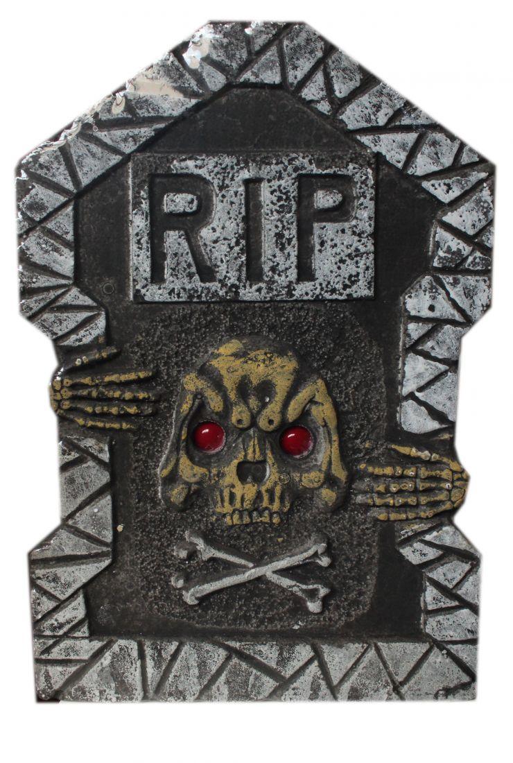 Надгробие со скелетом RIP