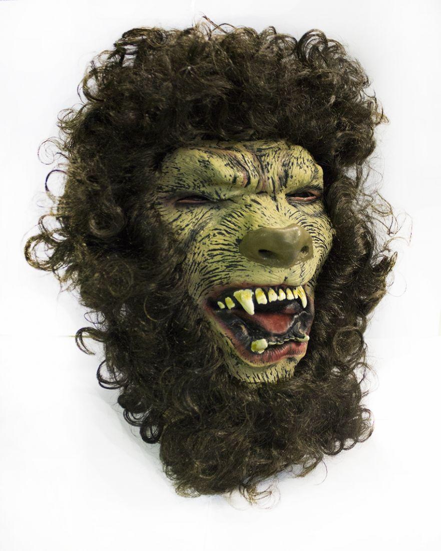 Латексная маска Льва-оборотня
