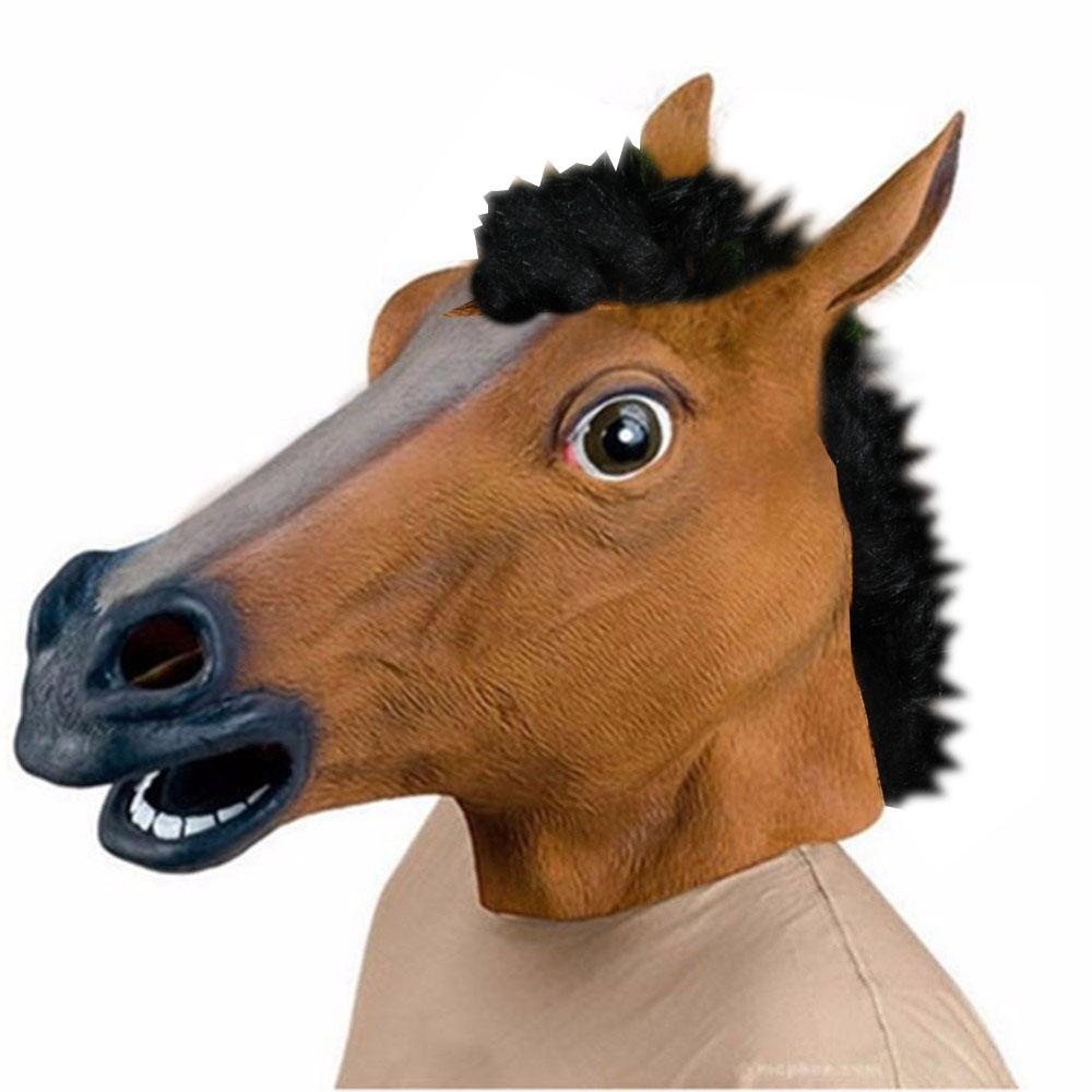 Латексная маска Лошади