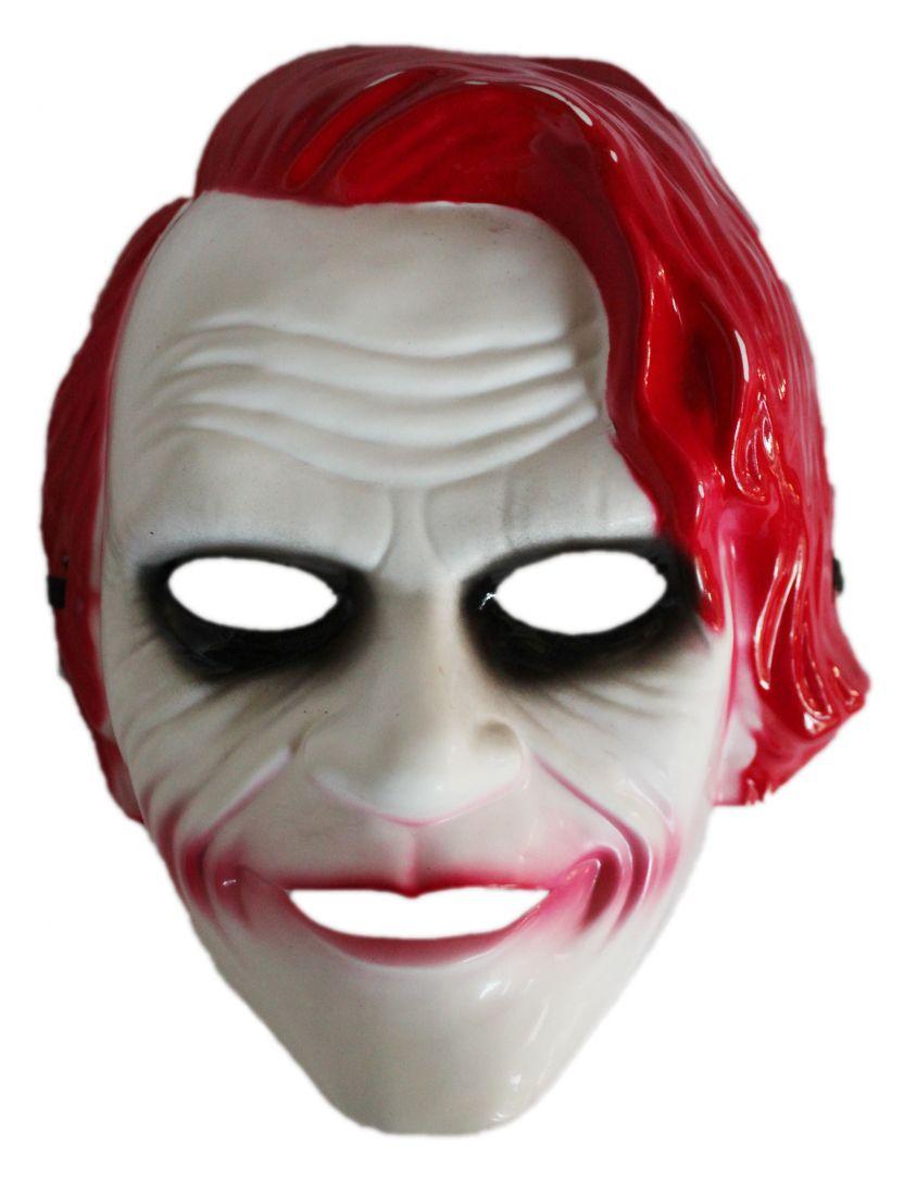 Маска Джокера с красными волосами