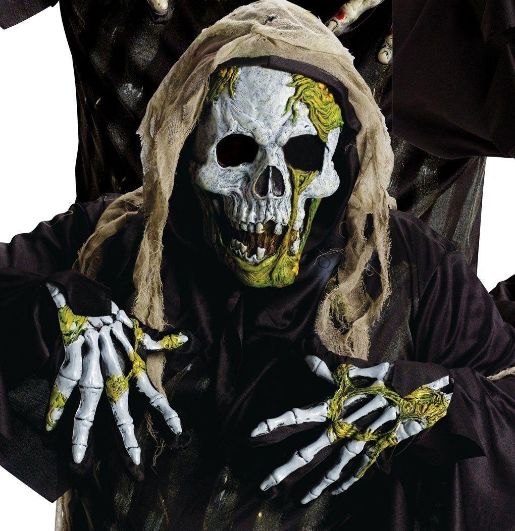 Маска и перчатки сгнившего скелета