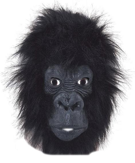 Черная маска гориллы