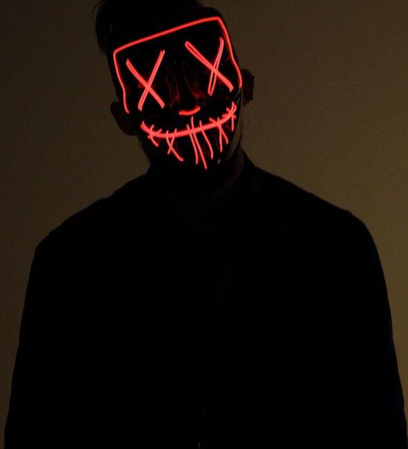 Светодиодная ярко-оранжевая маска