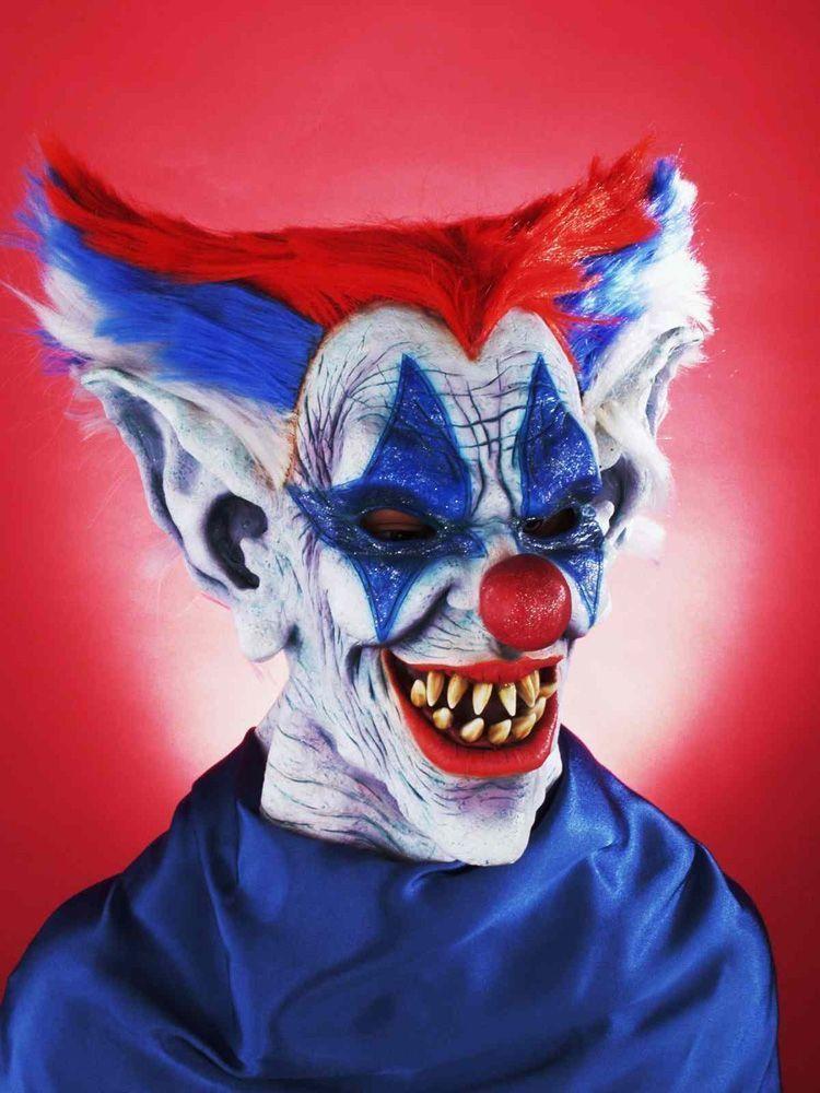 Маска жуткого цветного клоуна