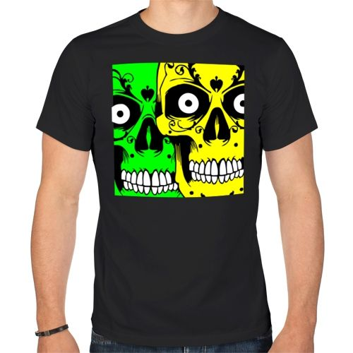 Мужская футболка Цветные черепки