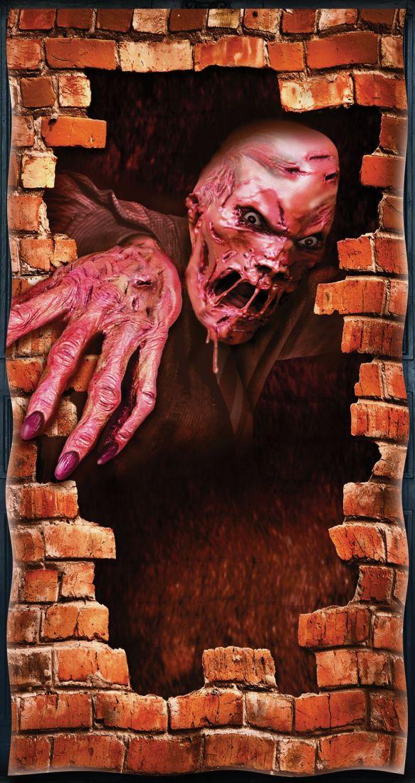 Наклейка Зомби из стены