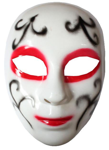 Карнавальная маска с черными узорами