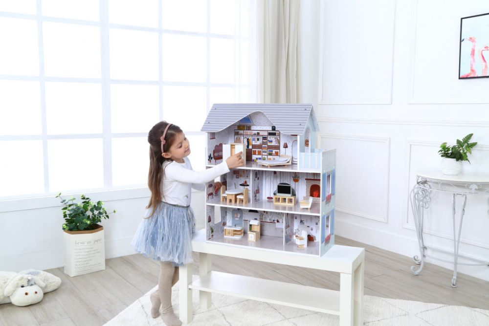 Домик для кукол,деревянный Ecotoys
