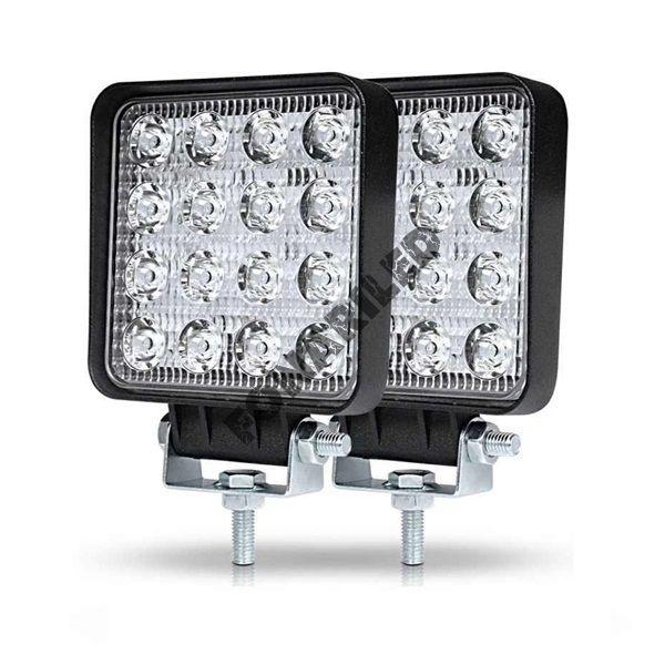 Комплект светодиодных фар, фары вспышки фсо 96W