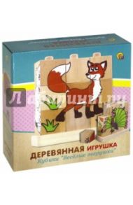 "Деревянные игрушка кубики ""ЗВЕРУШКИ"" (ИД-5908)"