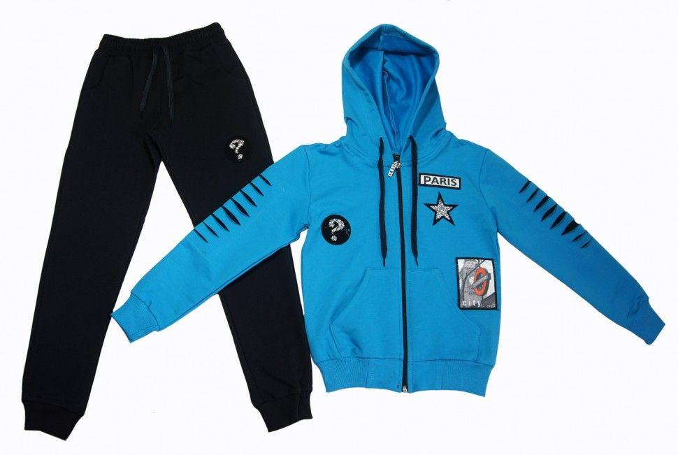 Спортивный костюм для девочки 9-12 (синий)