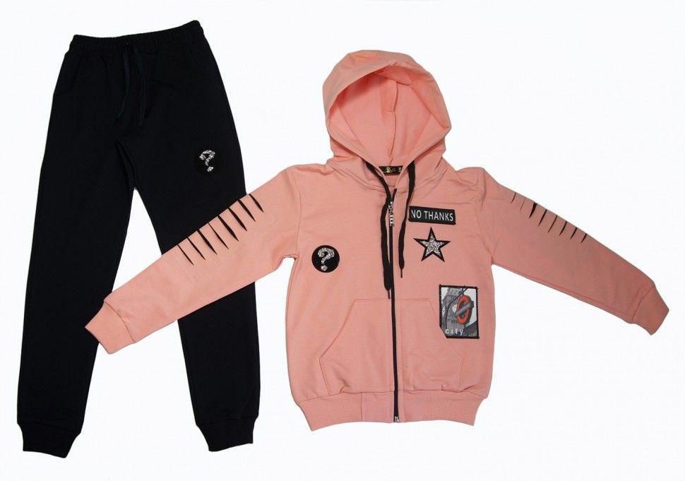 Спортивный костюм для девочки 9-12 (персиковый)