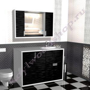 """Тумба для ванной под стиральную машину """"Глосси-1"""""""
